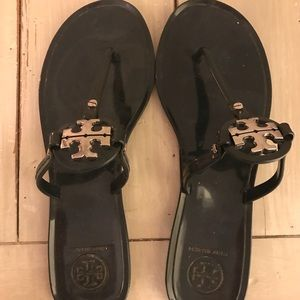 Tory Burch Mini Miller Navy Jelly Sandals Size 7